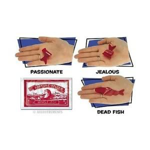 4KIDS Toy / Game red Plastic Fortune Teller Miracle Fish ( Made of a Space-Age Polymer Plastic ) by Spiritual Imports