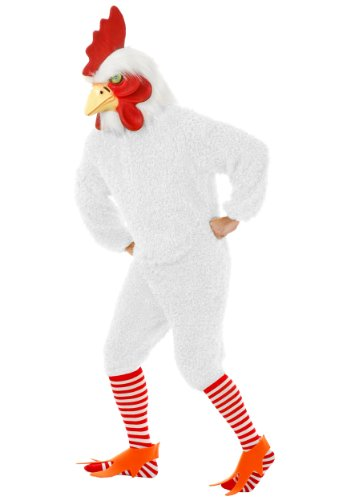 Rockin Rooster White *Net Pricing (X-Large) (Adult Rooster Costume)