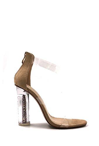 Chaussure NANA Bottine Talon Mode Femme Transparent à Beige CHIC O5dIqwPFnO