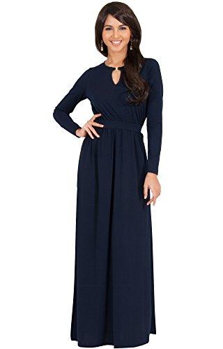 KOH KOH Plus Size Womens Long Sleeve Sleeves Modest Flowy ...