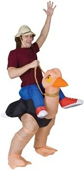 Inflatable Ollie Ostrich Adult Costume Size Standard