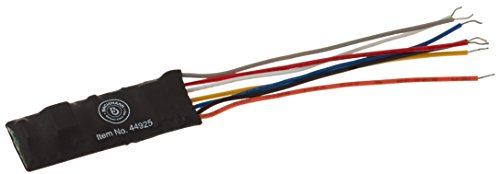 Command Bachmann Ez Decoder (Bachmann E-Z Command DCC Decoder with Wire Harness, 9.5mm x 25mm x 5mm (Programming on The Main, Lights, Dimming) 1/card)