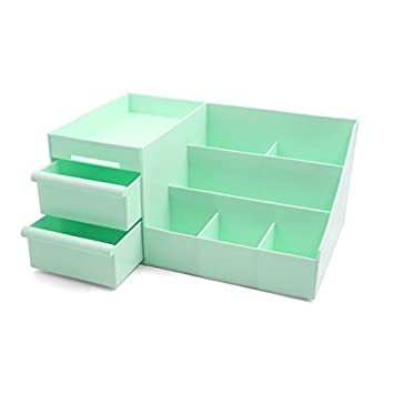 eDealMax escritorio de oficina de plástico multifuncional 9 ranuras de almacenamiento cosmética cajón envase de la