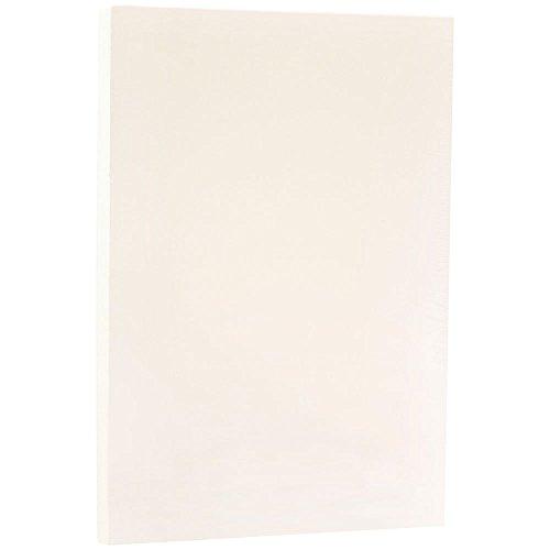 JAM PAPER Ledger Strathmore 24lb Paper - 11 x 17 Tabloid - Natural White Wove - 100 Sheets/Pack