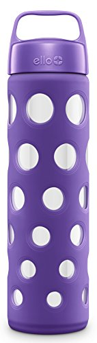 Ello Pure BPA Free Glass Water Bottle with Lid, 20 oz