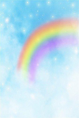 AOFOTO 3x5ft Dreamy Rainbow Backdrop Hazy Starry Sky Photography Background Infant Girl Baby Newborn Toddler Artistic Portrait Sweet Night Fairy Tale Photo Shoot Studio Props Video Drop Seamless Vinyl (Fairy Photo Tale)
