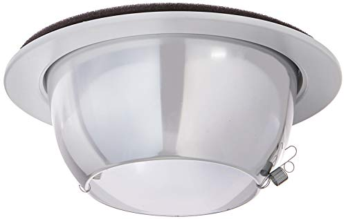 WAC Lighting R-656-CL/WT 6-Inch R600 Line Voltage Series Trim with Open Reflector
