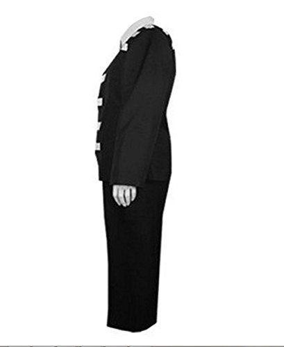 TISEA Halloween and Party Use Black Suit Uniform Cosplay Costume (L, Female) by TISEA (Image #1)