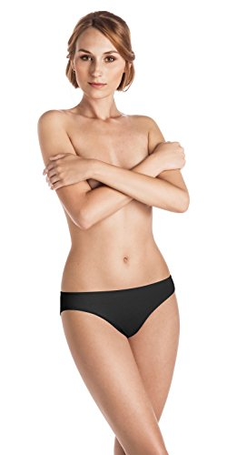 Hanro Women's Ultralight Bikini, Black, Small