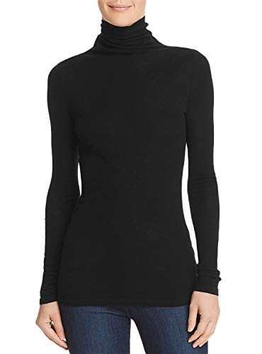 Women's Lightweight Long Sleeve Turtleneck Cashmere Pullover Sweater Tops, Black M