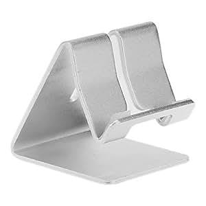 GDW Sostenedor del metal de aluminio Soporte de escritorio para Universal Mobile Phone (Blanco)