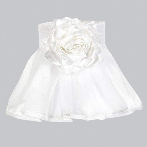 Jubilee Collection 2770-MG3000 Ruffled Sheer Skirt Chandelier Shade with Rose Magnet, - Ruffled Lamp