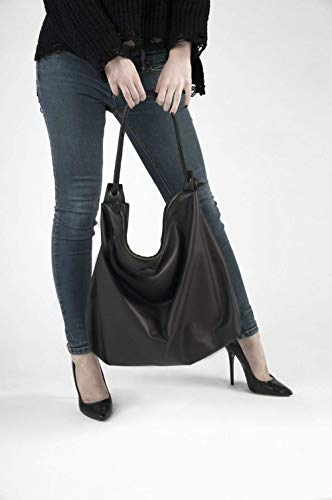 3d390a71289d4 Ledertasche damen Schwarz groß Handgefertigt  Amazon.de  Handmade