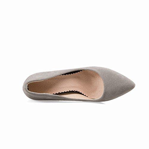 Mee Shoes Damen chunky heels Geschlossen Pumps Grau