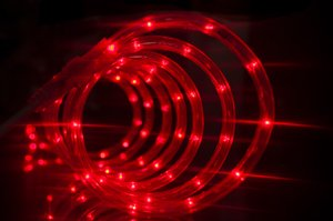 Red LED Flexible Rope Lights For Indoor / Outdoor Lighting, Christmas, New Year, Valentine, Party, Event