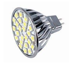 Espectro de luz Enterprises, Inc Led Smd bombilla Mr16 bepin G5,3 Gx5,3 Base 120 V blanco fresco 6400 K: Amazon.es: Iluminación