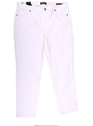 (David Bitton Buffalo Womens Super Stretch Skinny Ankle Grazer Pant 8/29 White)