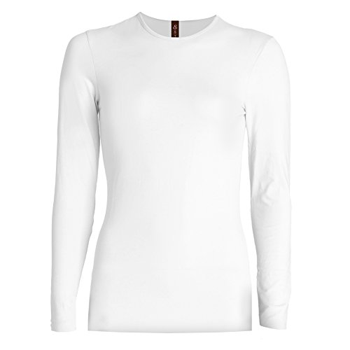 Esteez Long Sleeve T-shirt for Girls Snug Fit Base Layering White Medium