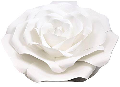 DecorInTheBox Large Paper Flower 30cm (12 inch) Wedding Photography Flower Backdrop, Birthday Wall Decor, Fully Assembled (White)