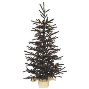 Vickerman Pre-Lit Pistol Tree with 50 Orange M5 LED Lights, 3-Feet, Black