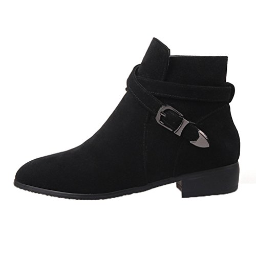 Donalworld Women Suede High Heel Martin Ankle Boot Pt1 8pPZf0