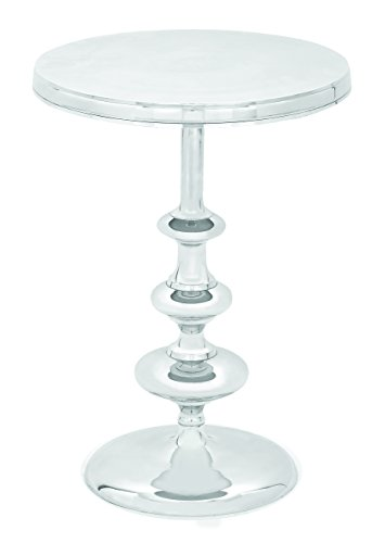 - Deco 79 Aluminum Accent Table, 22 by 16-Inch, Silver