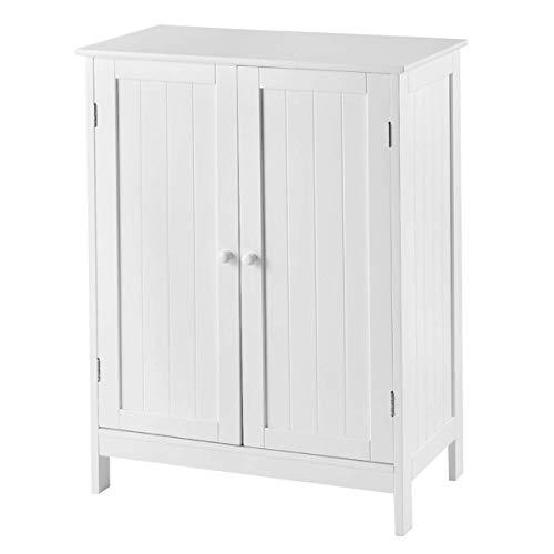 - Tangkula Bathroom Floor Cabinet, Wooden Floor Storage Cabinet, Living Room Modern Home Furniture Free Standing Storage Cabinet, Side Organizer L23.5