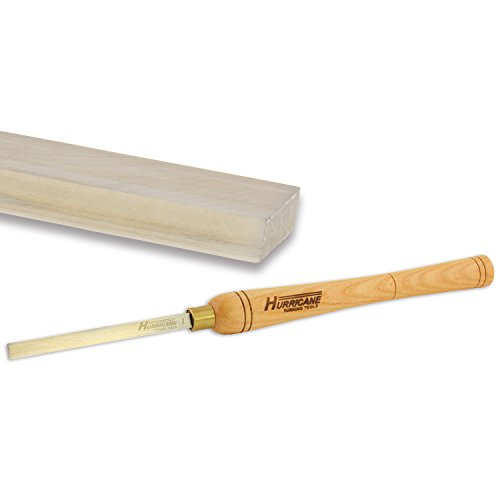 Hurricane Woodturning Square Scraper, 1/2