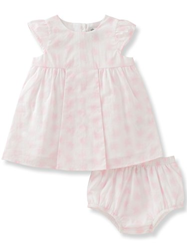 absorba Baby Girls' Dress and Panty Set, White/Pink, (Fancy Baby Panties)
