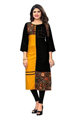 Indian/Pakistani Fashion Salwar Kameez tunic kurti kurta for Women Shalwar Kameez Suit Casual Wear (Black, - Designer Salwar Kurta