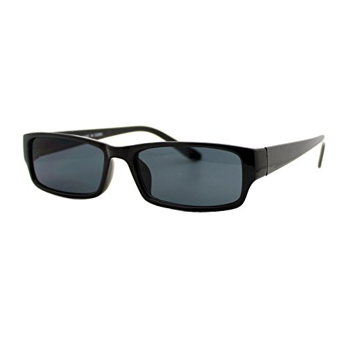 Rectangular Plastic Frame Sunglasses - 2