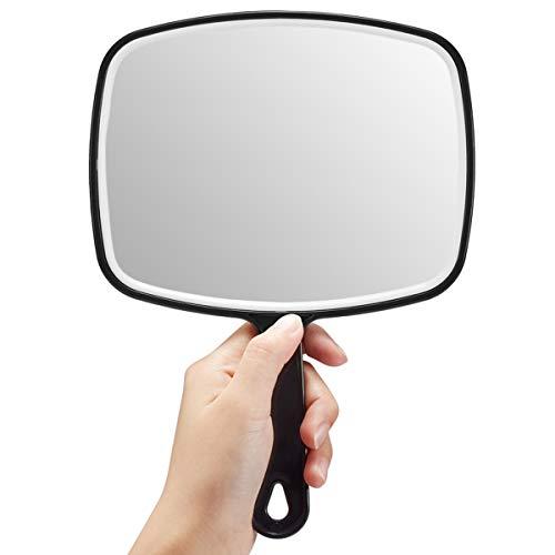 OMIRO Hand Mirror, Large Black Handheld Mirror with Handle, 6.3