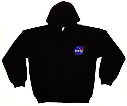 Spiffy Custom Gifts NASA Meatball Embroidered Hoodie Sweatshirt Small Black