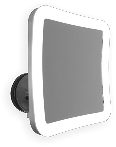 7X Lighted Makeup Mirror With Locking Suction Mount And Ball Joint Swivel by Mirror On A Rope