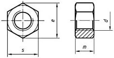 UNC Sechskantmutter 5//8 getappt /Übergr/ö/ße Packungsgr/ö/ße BS 1768 6 verzinktem Stahlblech