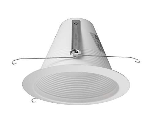 - NICOR Lighting 6-Inch Airtight Recessed Wet Location Cone Baffle Trim, White (17550AWL)