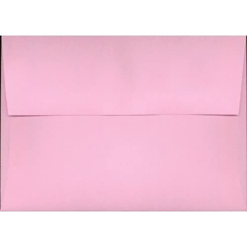 """Box of 50 Pink A6 (4 3/4"""" x 6 1/2"""") Fits 4x6 Invitation Photo Wedding Announcement Envelopes"""