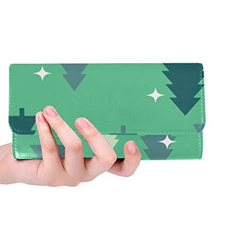 (Unique Custom Ruixue Design Style Creativity Women Trifold Wallet Long Purse Credit Card Holder Case Handbag)