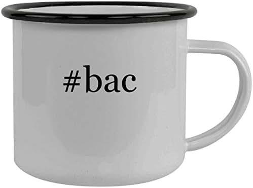 #bac - Stainless Steel Hashtag 12oz Camping Mug, Black
