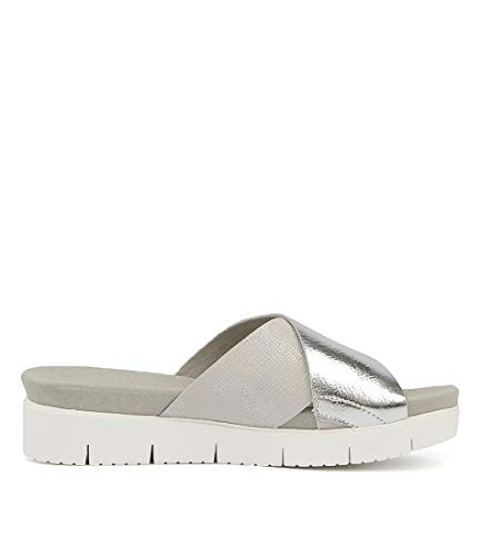 SHINE Sandals Sandals Womens Summer GAMINS SILVE Flat LEATHER Benji MISTY MET LEATHER vwFqZSta