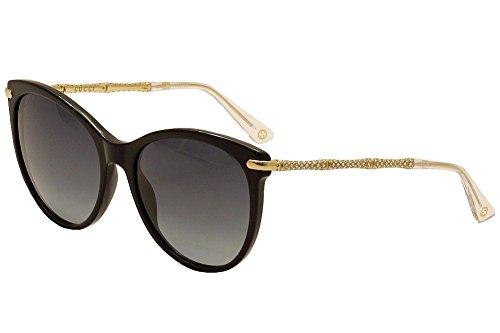 Gucci Designer Sunglasses, Black/Gold/Grey Grdaient, - Frame Gucci Round Sunglasses Acetate
