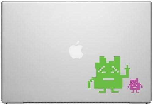 Aqua Teen Mooninites Macbook Car Tablet Art - Lime and Pink Vinyl Decal for 13