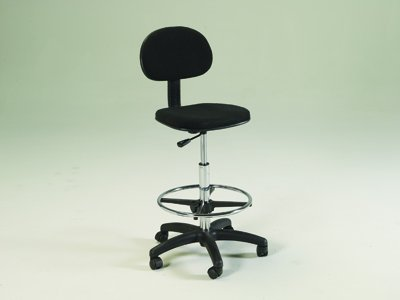 Martin Universal Design Stiletto Drafting Height Chair Seating in Black by Martin Universal Design