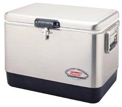 Coleman Stainless Steel Cooler Combo (54-qt) (Coleman 54 Quart Steel Belted Cooler Silver)