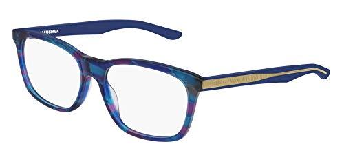Balenciaga BB0028O Eyeglasses 004 Multicolor-Light Blue 55mm