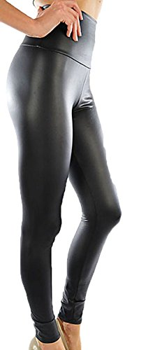Funfash Plus Size Pants New High Waist Pleather Black Skinny Leggings 1x 18 20