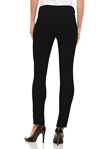 342d1afbbbb Velucci Womens Straight Leg Dress Pants - Stretch Slim Fit Pull On Style at  Amazon Women s Clothing store