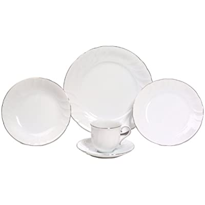 Click for Mikasa Wedding Band Platinum 5-Piece Fine China Place Setting, Service for 1