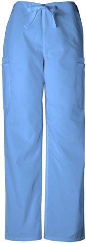 Cherokee Workwear Men's 4000 Drawstring Cargo Scrub Pant- Ceil Blue- Medium
