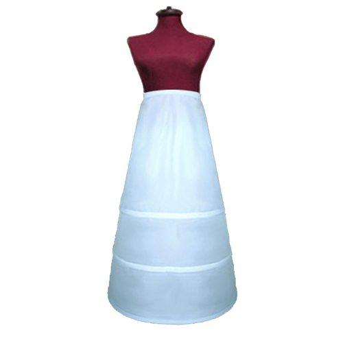 SACASUSA (TM) Adjustable 3-Hoop A-Line Wedding Bridal Petticoat Slip Cir. 86 inch